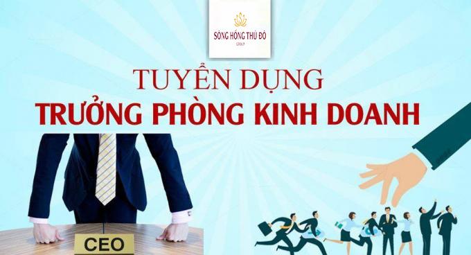THÔNG BÁO TUYỂN DỤNG TRƯỞNG PHÒNG KINH DOANH